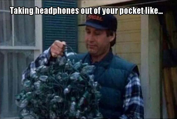 taking headphonesout of your pocket