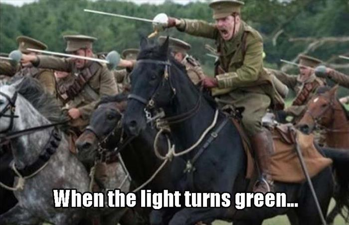 when the light turns green