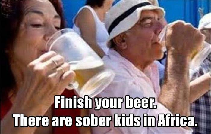 you should drink your beer