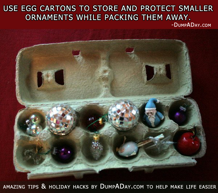 Top ten holiday hacks for Christmas decorations using egg cartons