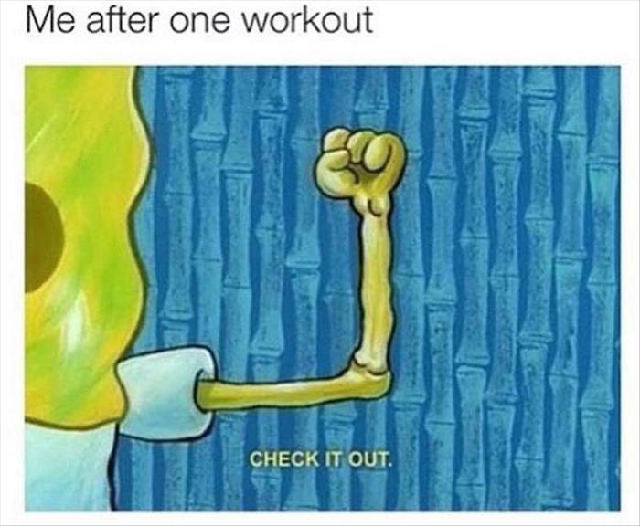 me after a workout