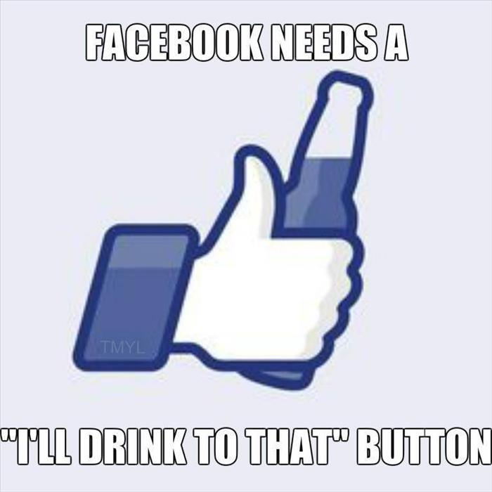 the new facebook button
