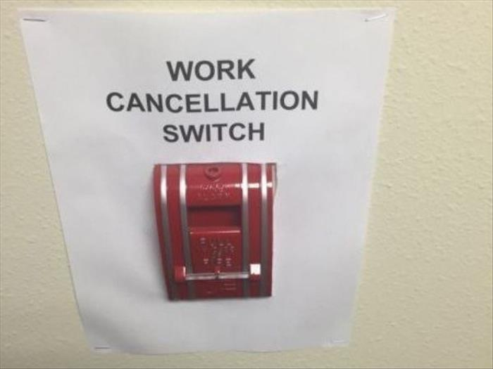 work cancelation switch