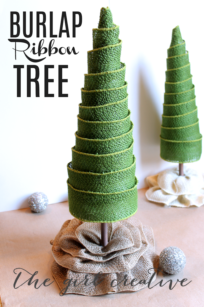 Burlap Ribbon Tree