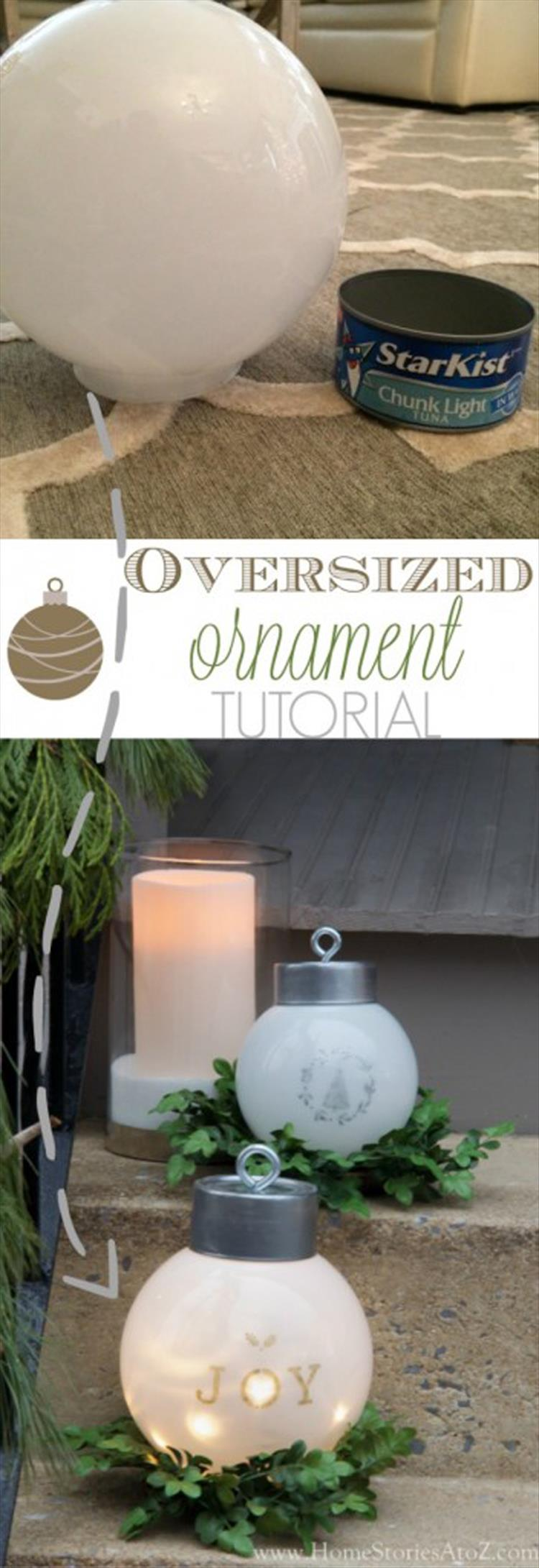 DIY Oversized Ornaments