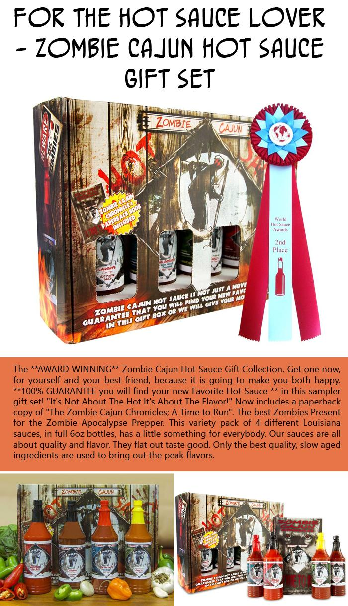 For the Hot Sauce Lover - Zombie Cajun Hot Sauce Gift Set