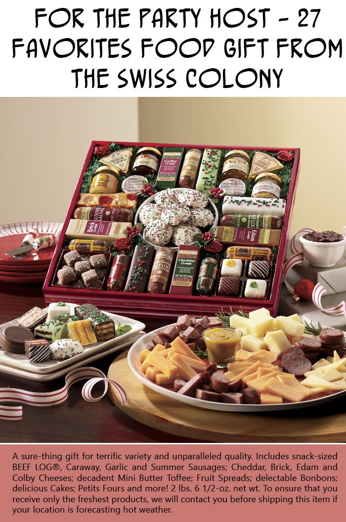 For the Party Host - 27 Favorites Food Gift from The Swiss Colony
