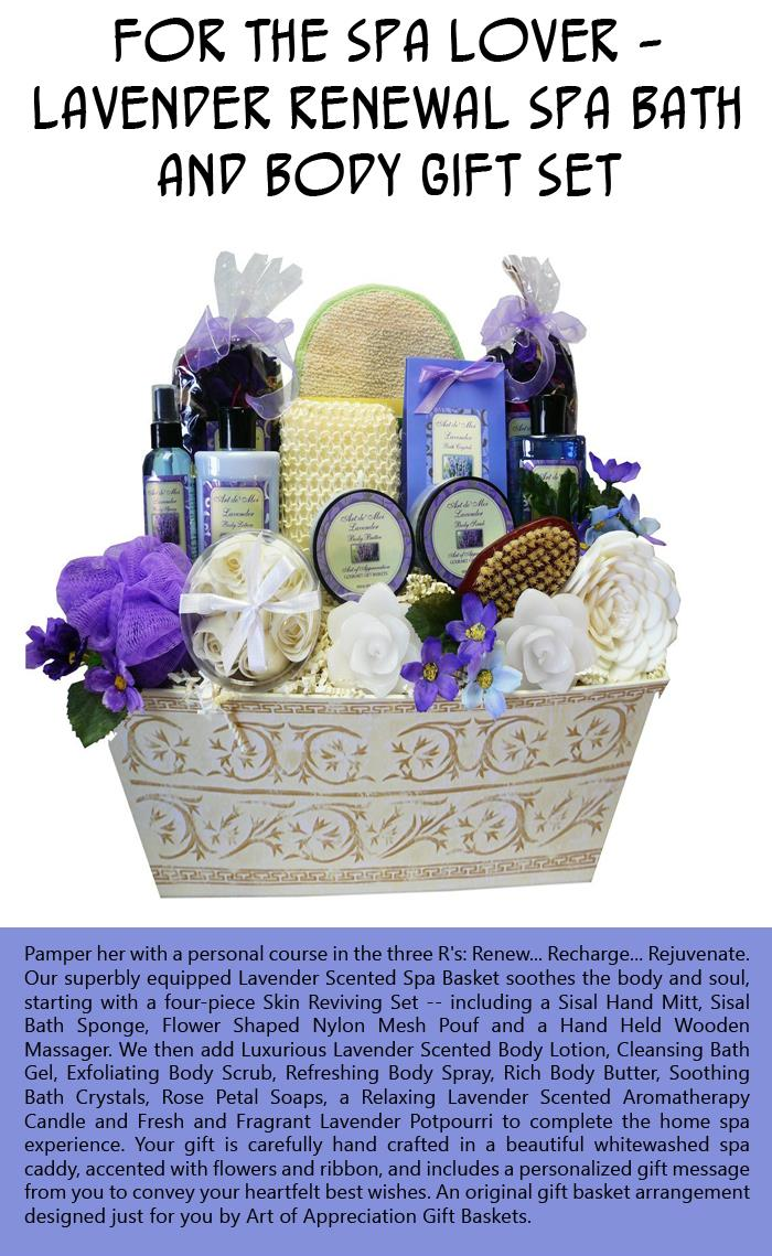 For the Spa Lover - Lavender Renewal Spa Bath and Body Gift Set