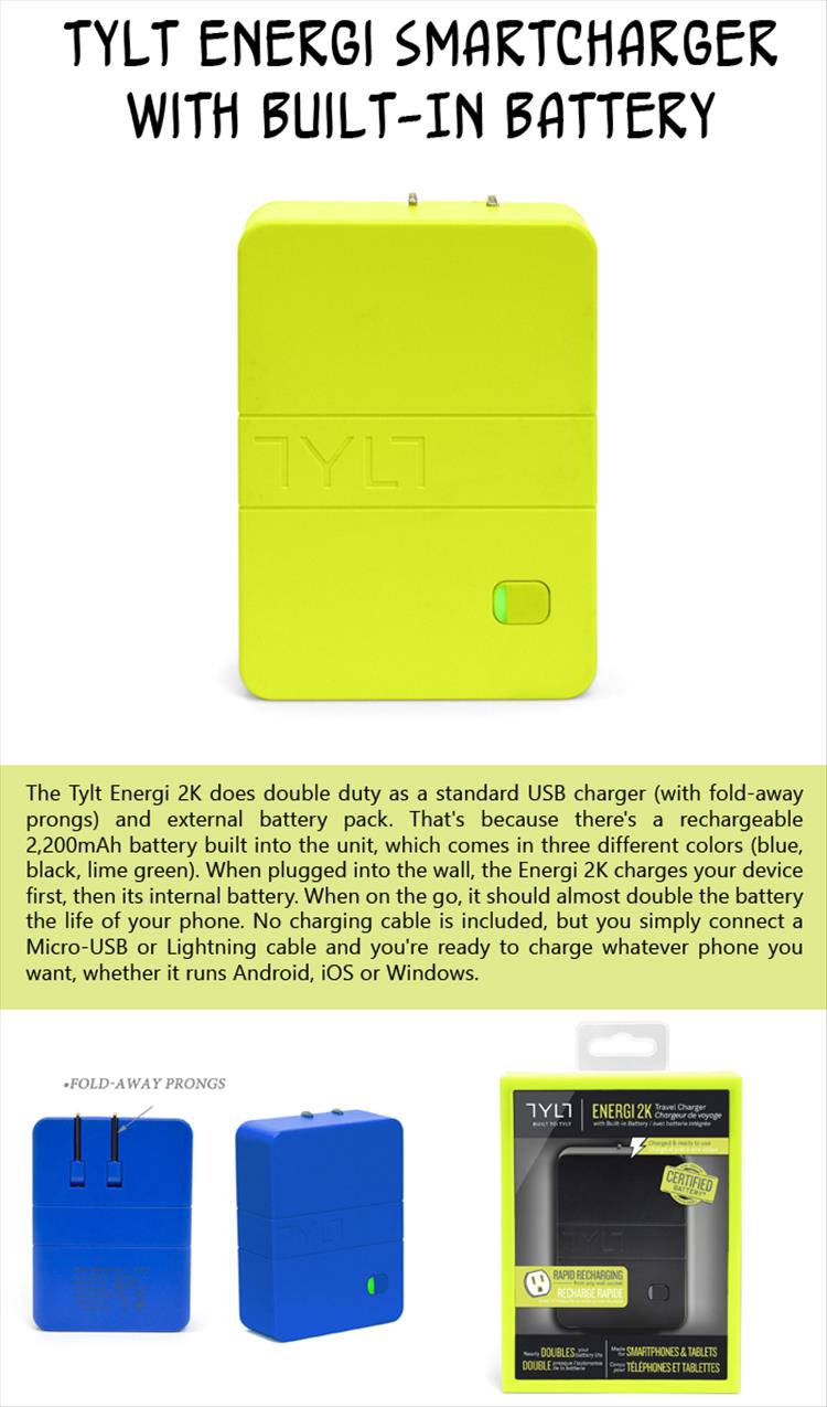 TYLT Energi SmartCharger with Built-In Battery