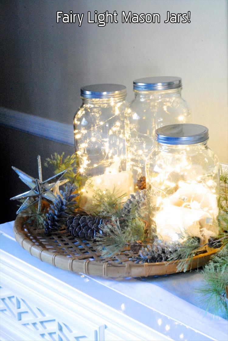 fairy light mason jars