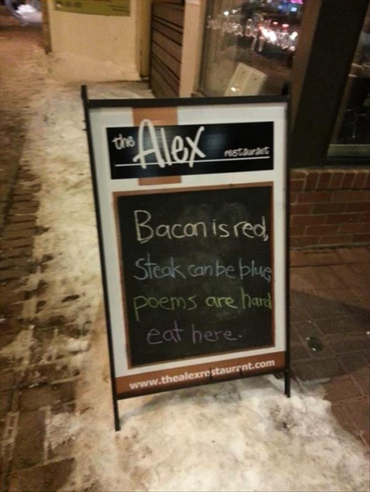 The Funniest Restaurant Signs You Ll See All Day 25 Pics
