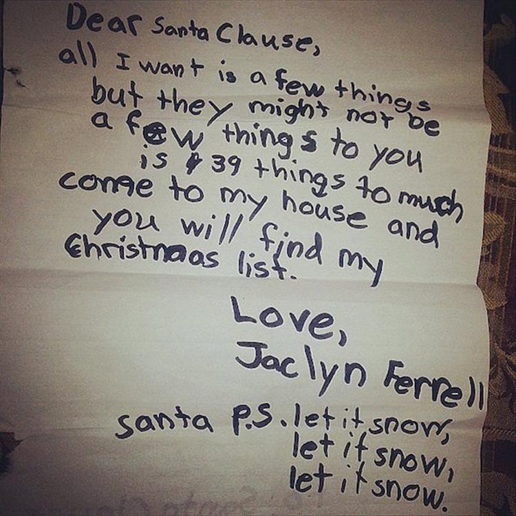 Funny Things Kids Asked Santa For This Year