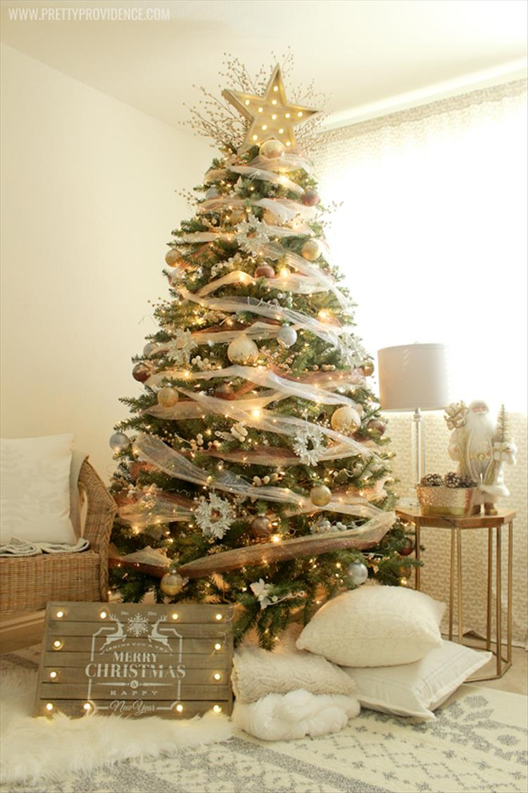 whimsical precious metals Christmas tree