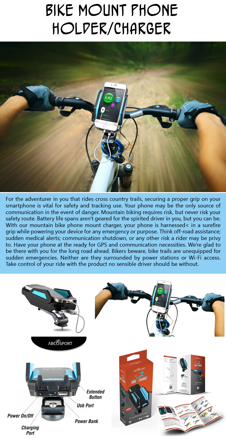 Bike Mount Phone Holder Charger