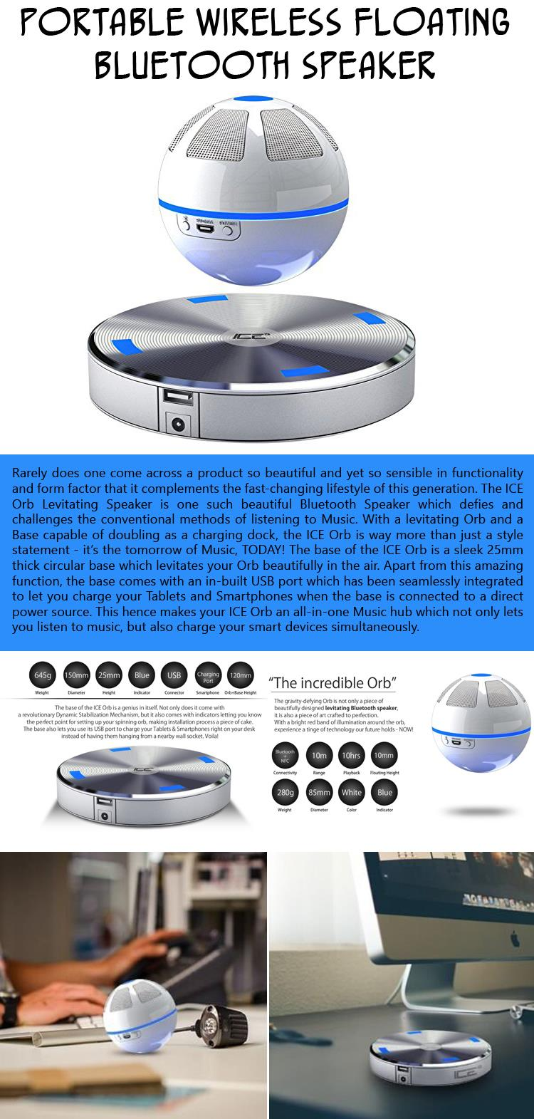 Portable Wireless Floating Bluetooth Speaker