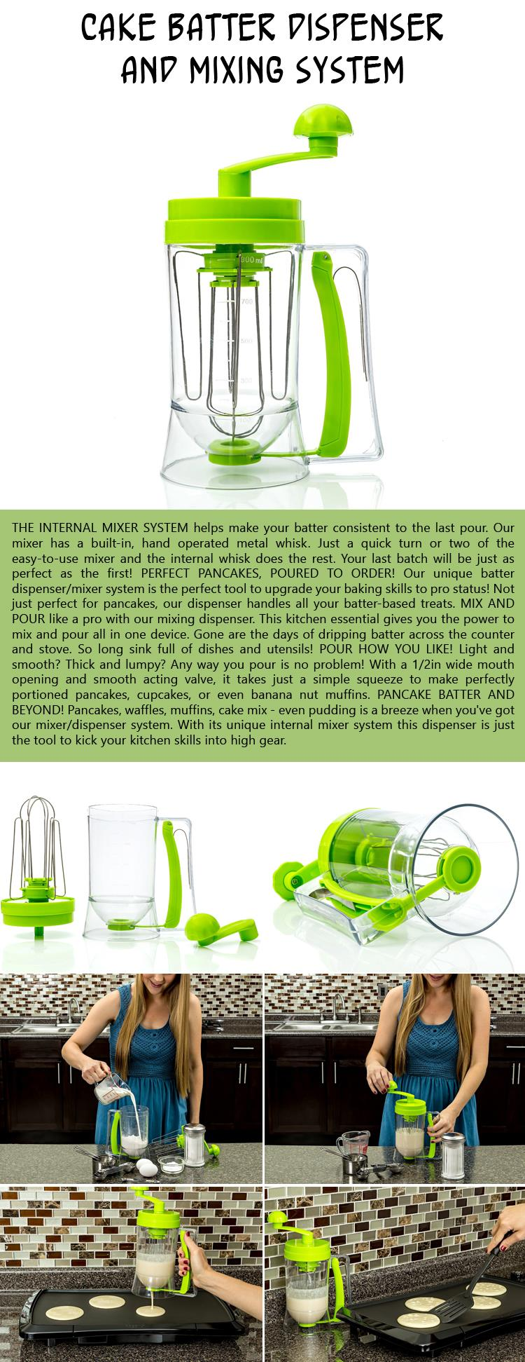 Cake Batter Dispenser and Mixing System