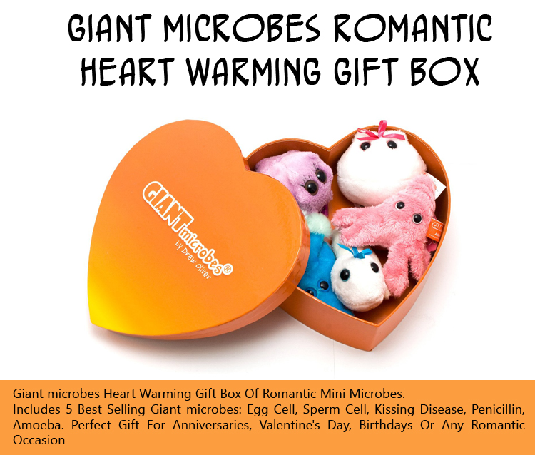 Giant Microbes Romantic Heart Warming Gift Box