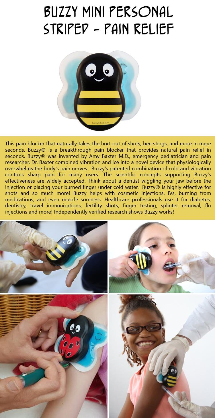 Buzzy Mini Personal Striped - Pain relief