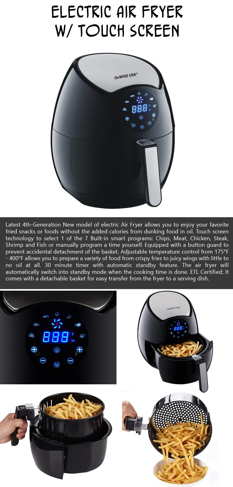 Electric Air Fryer with Touch Screen