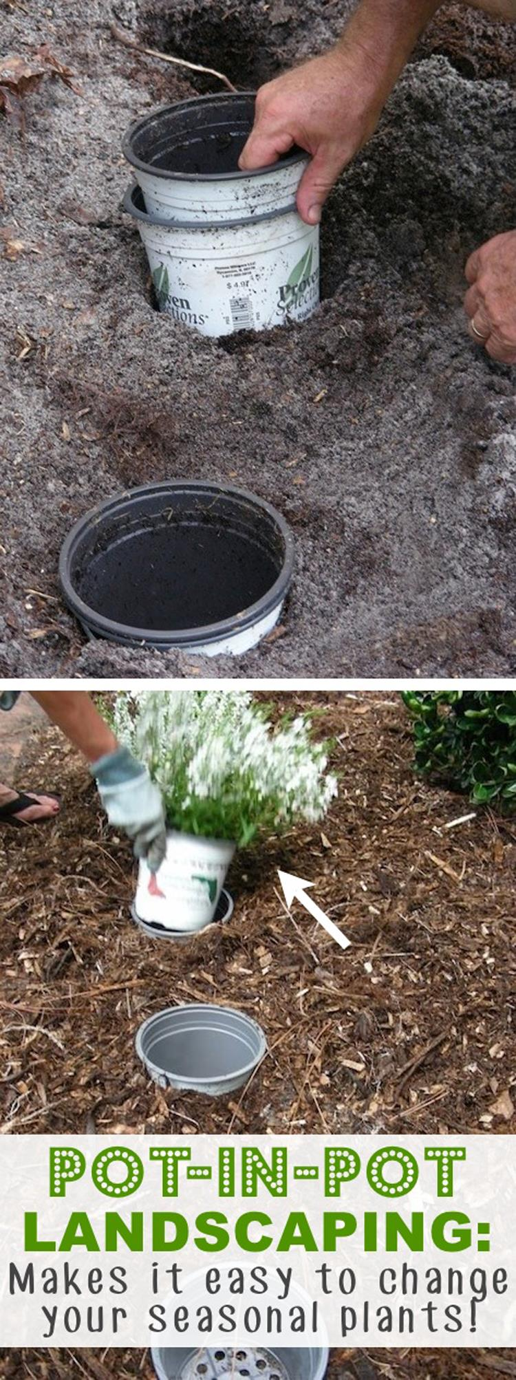 Pot-in-Pot Landscaping