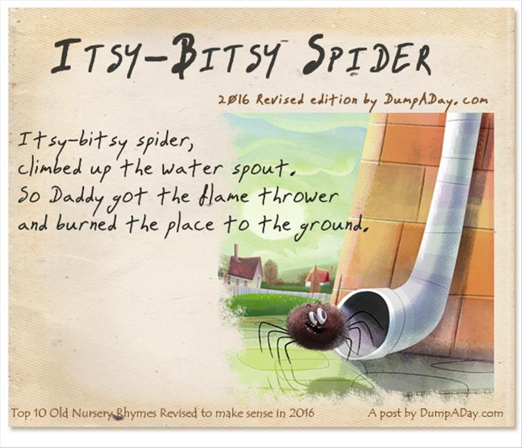 Top 10 Old Nursery Rhymes Revised Itsy Bitsy Spider