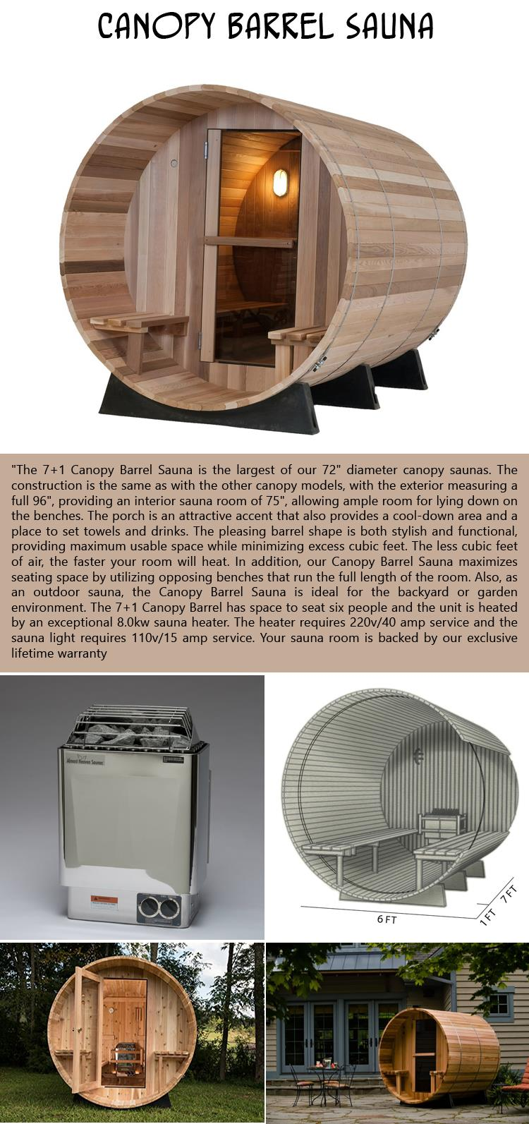Canopy Barrel Sauna