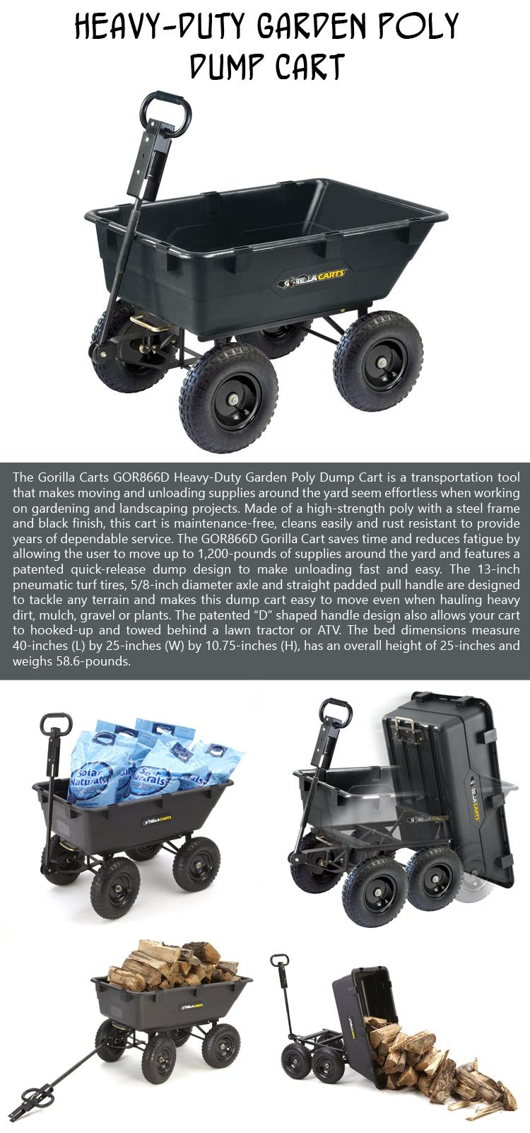 Heavy-Duty Garden Poly Dump Cart