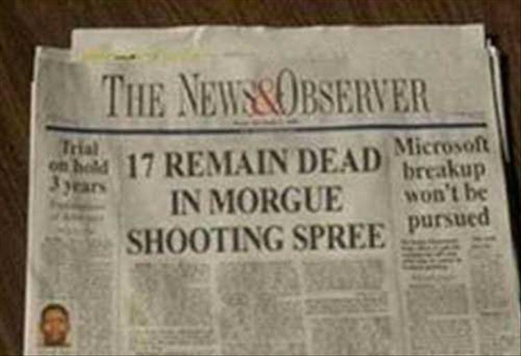 News Headlines Picture: News Headlines That Tried, But Failed Miserably