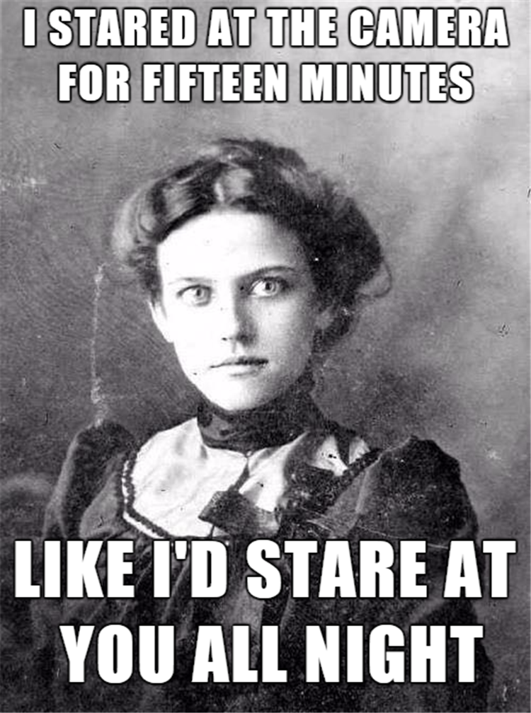 old timey overly attached girlfriend proves that love can be a scary thing