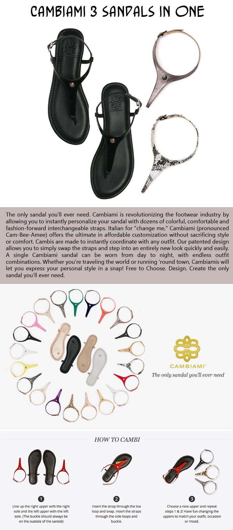 Cambiami 3 Sandals in ONE