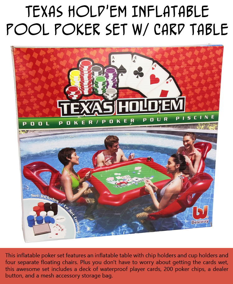 Texas Hold'em Inflatable Pool Poker Set