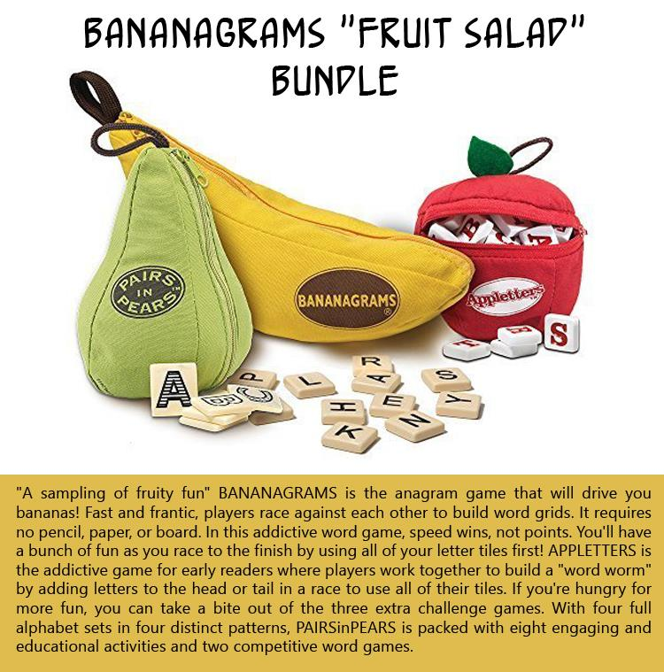 Bananagrams Fruit Salad Bundle