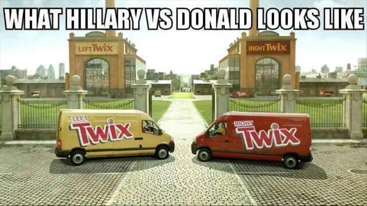 Hillary vs Donald Trump