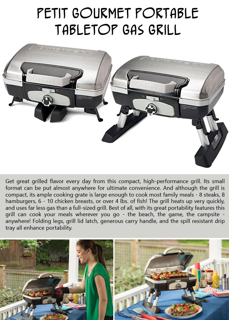 Petit Gourmet Portable Tabletop Gas Grill