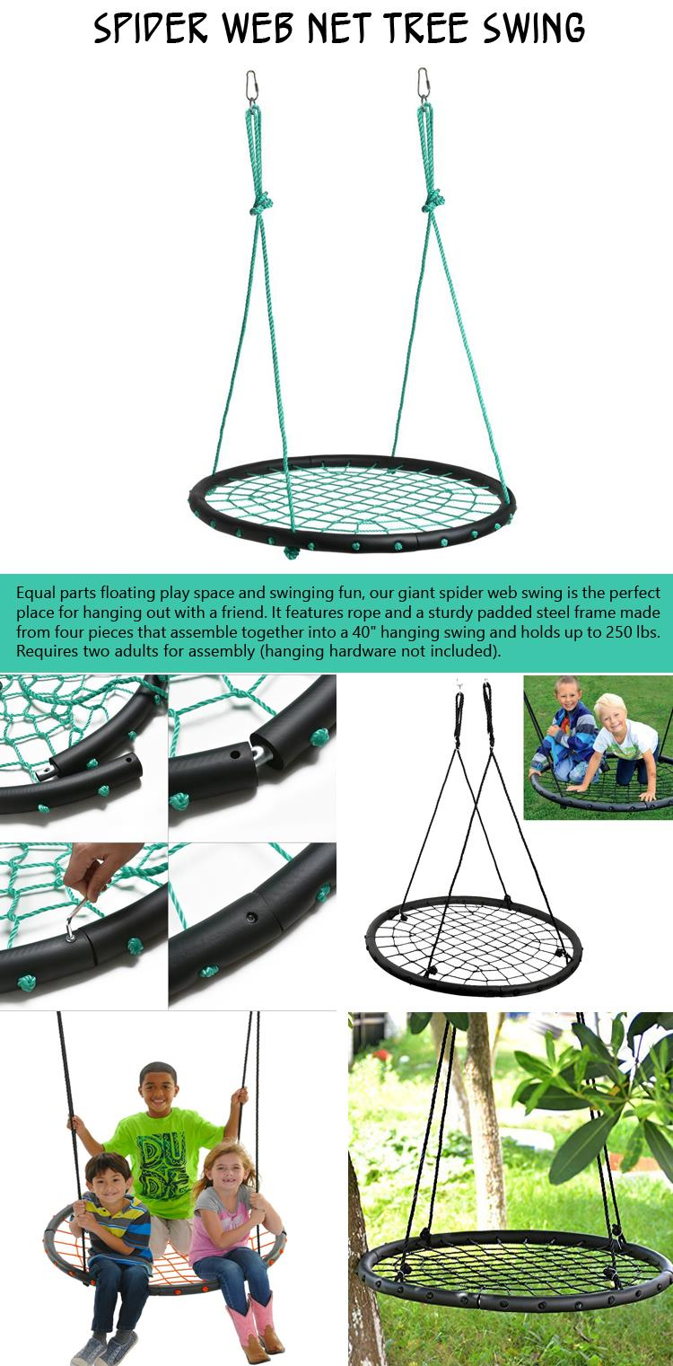 Spider Web Net Tree Swing
