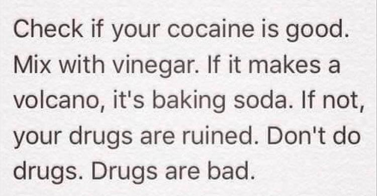 drugs are bad