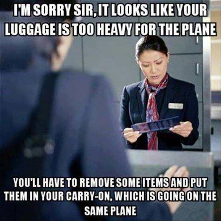 heavy luggage
