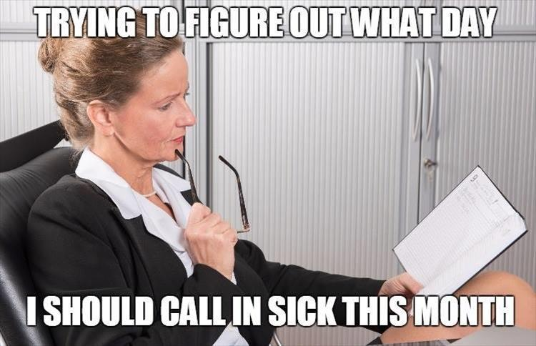 how to call in sick