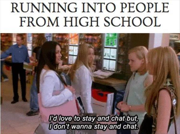 meeting people from high school