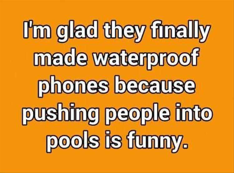push people into swimming pools