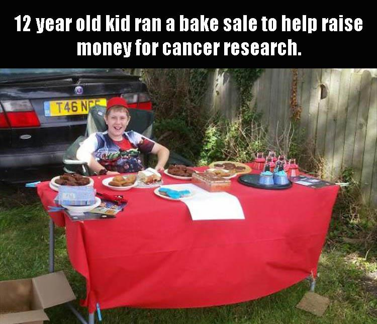 raise money for cancer research