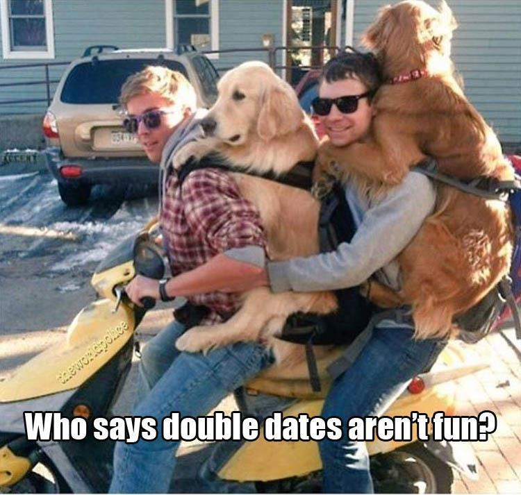who says double dates aren't fun