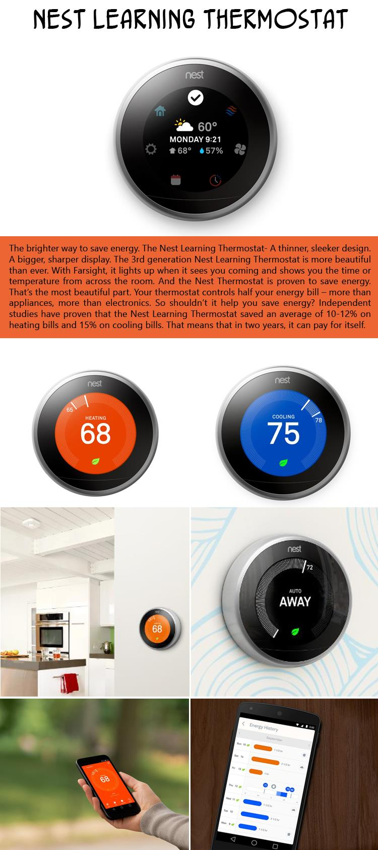 2 Nest Learning Thermostat