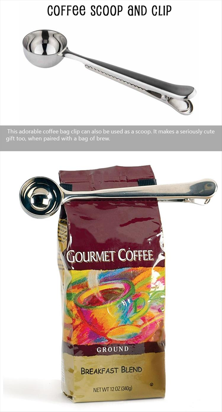 Coffee Scoop and Clip