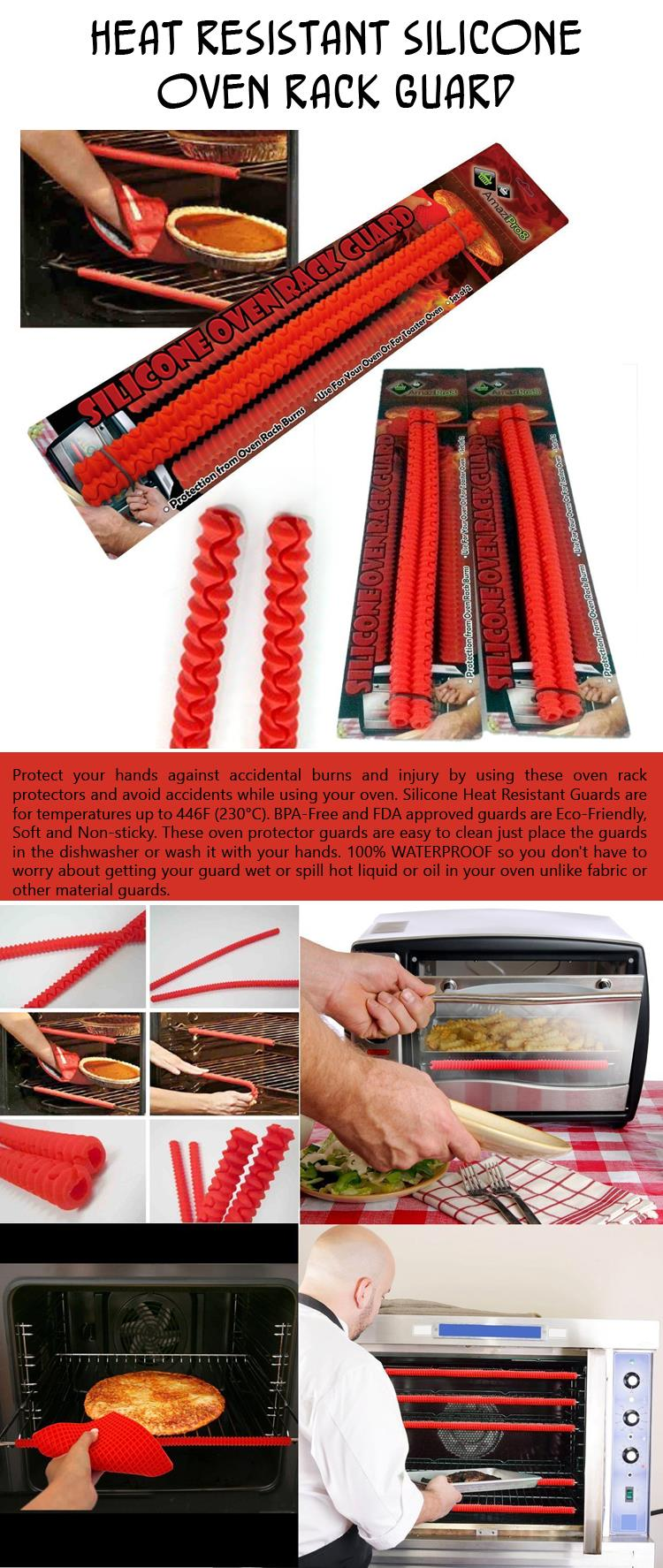 Heat Resistant Silicone Oven Rack Guard