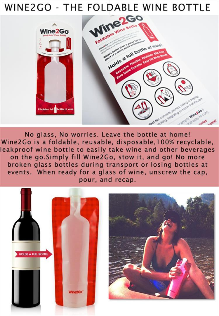 Wine2Go - The Foldable Wine Bottle