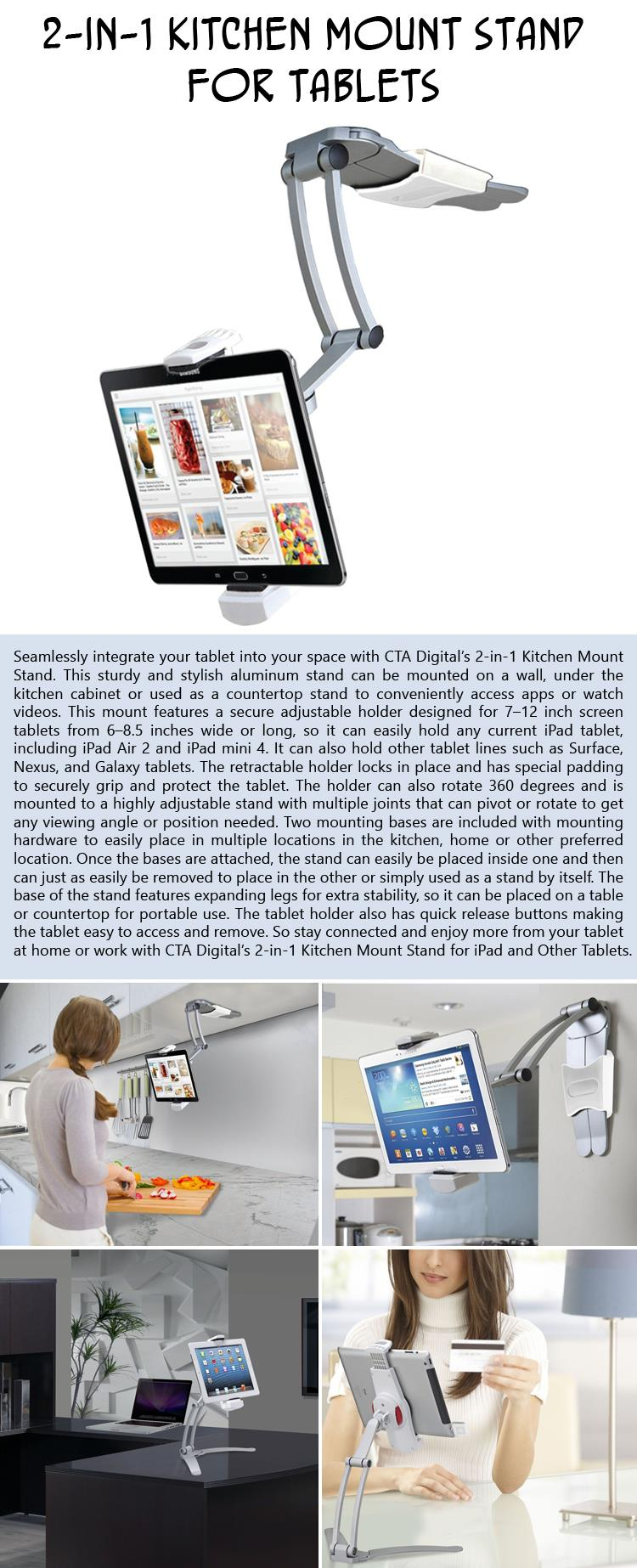 a  Kitchen Mount Stand for Tablets