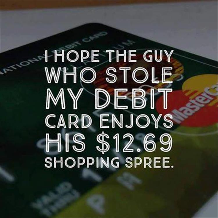 debit card funny