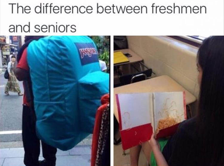 freshman vs senior