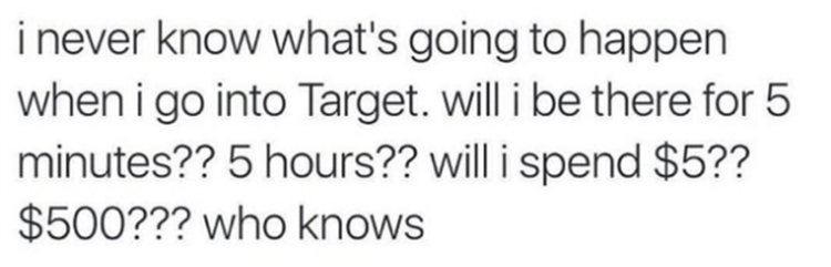 going to target